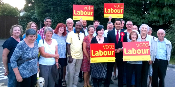 With Labour Party activists in Harborough