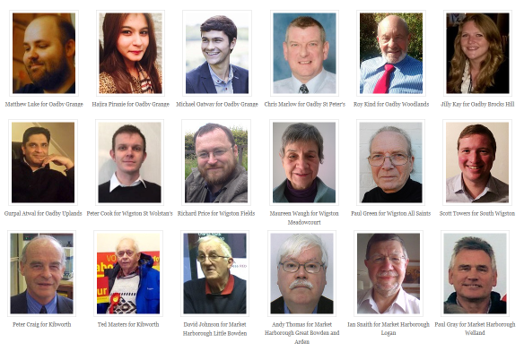 Our Council candidates for Oadby, Wigston, Kibworth and Market Harborough