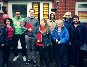 Campaigning for Labour in the 2014 EU elections