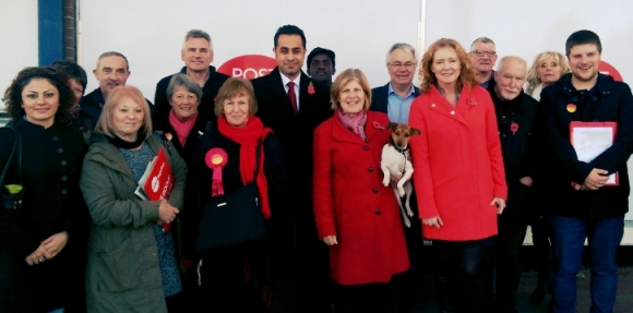 Campaigning for Labour in Northampton North with PPC Sally Keeble