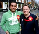 Campaigning with Eddie Izzard