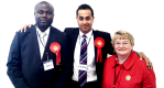 Elected as a Leicester Councillor