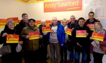 Campaigning for Labour in Corby with Andy Sawford MP