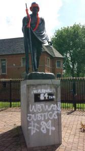 Statue of Mahatma Gandhi in Leicester