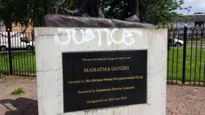 The statue of Mahatma Gandhi in Leicester