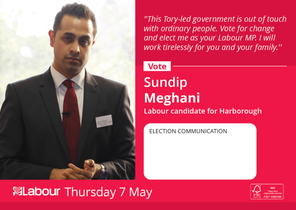 Sundip Meghani is the Labour parliamentary candidate for Harborough, Oadby and Wigston