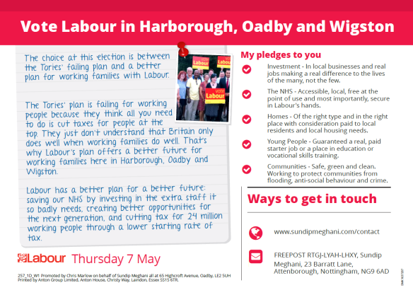 Click here to view my pledges to the people of Harborough, Oadby and Wigston