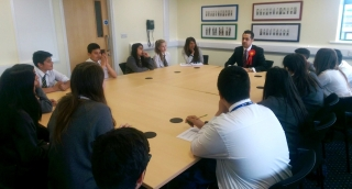 Inspiring the next generation of Labour voters during a visit to Manor High School in Oadby