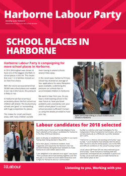 Harborne Labour community update (Page 1)