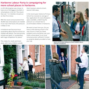 Harborne Labour out campaigning on the doorstep