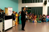 Attending a Navratri celebration event in Oadby