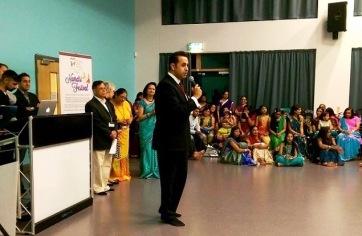 Attending a Navratri celebration event in Oadby