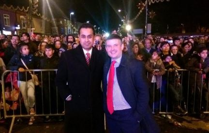 Leicester Diwali celebrations with my friend Jonathan Ashworth MP