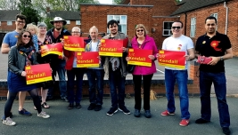 Campaigning for Labour in Leicester West