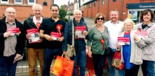 Campaigning for Labour in Harborne, Birmingham