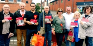 Campaigning for Labour in Harborne, Birmingham