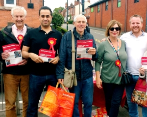 Campaigning for Labour in Harborne